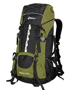 billiga Ryggsäckar och väskor-60 L Ryggsäckar / Ryggsäck / ryggsäck - Vattentät, Snabb tork, Bärbar Camping, Klättring, Fritid Sport Nylon Jade, Orange, Rubinrött