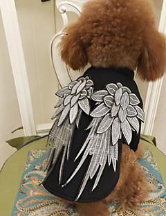 ネコ 犬 コスチューム 犬用ウェア クラシック キュート コスプレ 誕生日 ファッション 天使&悪魔 ブラック コスチューム ペット用