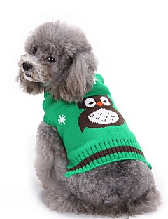 cheap Dog Clothes-Cat Dog Sweater Dog Clothes Casual/Daily Fashion Halloween Animal Orange Red Green Blue Costume For Pets