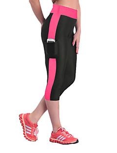 billiga Träning-, jogging- och yogakläder-Dam Lappverk / Ficka Tights för jogging / Gymleggings - Purpur, Rosenröd, Blå sporter Byxa Sportkläder Andningsfunktion, Kompression,