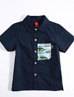 カジュアル/普段着 幾何学模様 コットン シャツ 夏 半袖