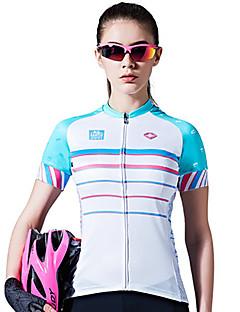 SANTIC חולצת ג'רסי לרכיבה בגדי ריקוד נשים שרוולים קצרים אופניים ג'רזי ייבוש מהיר נושם נוח תומך זיעה 100% פוליאסטר קלאסי קיץ ספורט פנאי
