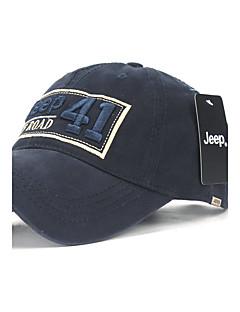 billige Trendy hatter-Herre Fritid Baseballcaps,Vår Bomullsblanding Trykt mønster Svart Navyblå Grå Militærgrønn