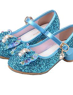 olcso Koszorúslány cipők gyermekeknek-Lány Cipő PU Tavaszi nyár Magasított talpú Magassarkúak Kristály Csokor mert Ruha Ezüst Kék