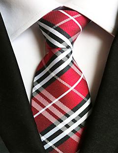 billige Slips og sløyfer-Herre Fest Kontor Grunnleggende Slips Stripet Polyester