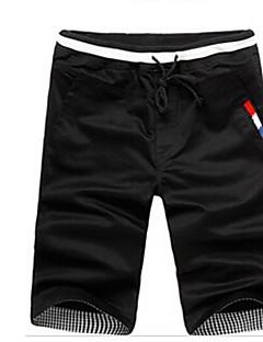 billige Herrebukser-Herre Chic & Moderne Shorts Bukser Ensfarvet