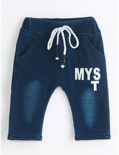 billige Jeans til drenge-Drenge Jeans Daglig Ensfarvet, Bomuld Forår Efterår Blå