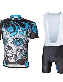 ILPALADINO Sykkeljersey med bib-shorts Herre Unisex Kort Erme Sykkel KlessettFort Tørring Ultraviolet Motstandsdyktig Pustende