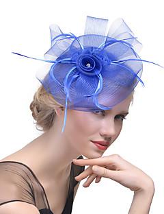 voordelige Modieuze hoofdversiering-Dames Hoed Solide Kleuren Gaas Elegant Modieus Strass Haarclip -