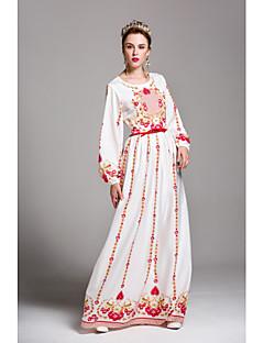 tanie SS 18 Trends-Damskie Bufka Pochwa Sukienka - Multi Color, Nadruk Maxi