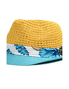 Χαμηλού Κόστους Breezy & Chic Straw Hats-Γυναικεία Patchwork, Καθημερινό Ψάθινο καπέλο