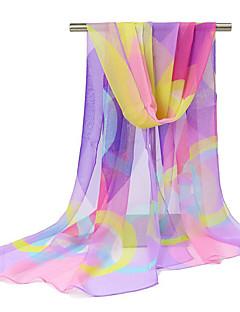 Χαμηλού Κόστους Chic Colorful Chiffon Scarves-Γυναικεία Σιφόν Στάμπα - Ορθογώνιο / Χαριτωμένο