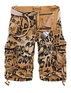 メンズ シンプル 活発的 ミッドライズ ルーズ マイクロエラスティック チノパン スウェットパンツ パンツ 縞柄 パッチワーク カラーブロック