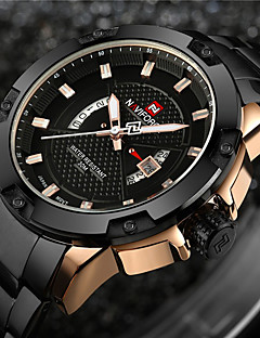 cheap Luxury Watches-NAVIFORCE Men's Quartz Wrist Watch Military Watch Sport Watch Japanese Calendar / date / day Water Resistant / Water Proof LED Large Dial