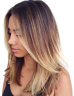 Menneskehår Indisk hår Nuance Krop Bølge Hår Ekstensions 1 Stykke Medium Brun/ Jordbær Blond