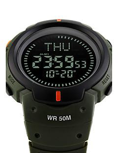 billige Høj kvalitet-SKMEI Herre Digital Digital Watch / Armbåndsur / Militærur / Sportsur Japansk Alarm / Kalender / Kronograf / Vandafvisende / Stor urskive