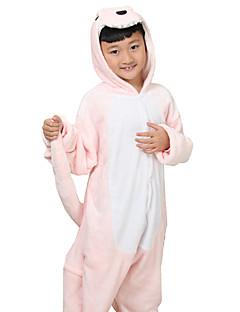 Kigurumi Pyjamas Anime Kostume Rosa Trikot / Heldraktskostymer Cosplay Festival / høytid Pysjamas med dyremotiv Halloween Trykt mønster