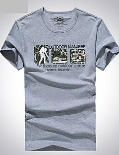 Homens Camiseta de Trilha Respirável Camiseta Blusas para Pesca Verão L XL XXL XXXL XXXXL