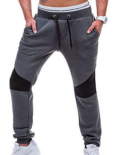 Herren Einfach Mittlere Hüfthöhe Micro-elastisch Jogginghose Schlank Hose einfarbig