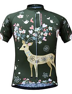 billige Sykkelklær-JESOCYCLING Dame Kortermet Sykkeljersey Sykkel Jersey, Fort Tørring, Pustende, Svettereduserende