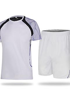 Unisex Fotbal Tepláková souprava Prodyšné Pohodlné Léto Sportovní Terylen Fotbal Bílá Oranžová Červená Zelená Modrá