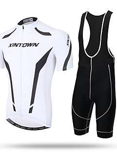cheap Cycling Jersey & Shorts / Pants Sets-XINTOWN Cycling Jersey with Bib Shorts Men's Short Sleeves Bike Bib Tights Jersey Top Quick Dry Ultraviolet Resistant Moisture