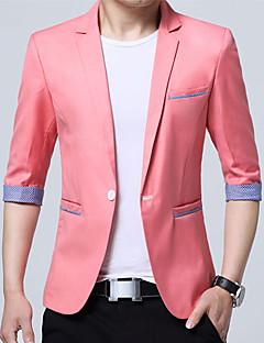 Herren Einfarbig Einfach Lässig/Alltäglich Arbeit Blazer,V-Ausschnitt Frühling Sommer Standard Baumwolle Acryl