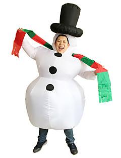 billige julen Kostymer-Snømann Cosplay Kostumer Halloween Utstyr Maskerade Herre Dame Film-Cosplay Trikot / Heldraktskostymer Air Blower Halloween Karneval Barnas Dag polyester