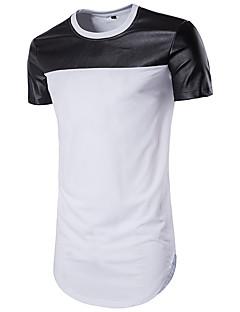 お買い得  メンズTシャツ&タンクトップ-男性用 スポーツ ビーチ Tシャツ, 活発的 ラウンドネック カラーブロック コットン