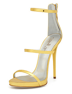 Χαμηλού Κόστους -Γυναικεία Παπούτσια PU Άνοιξη / Καλοκαίρι Μονομάχου / Παπούτσια club Σανδάλια Τακούνι Στιλέτο Στρογγυλή Μύτη Φερμουάρ Χρυσό / Γάμου