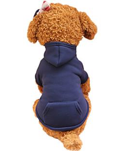 abordables -Chien Pulls à capuche Vêtements pour Chien Printemps/Automne Couleur Pleine Mode