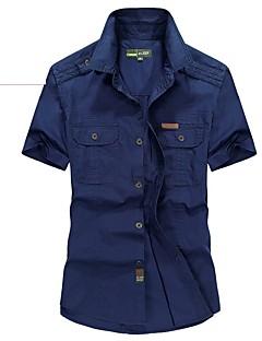 Homens Camisa de Trilha Respirável Camiseta Blusas para Pesca Primavera Verão L XL XXL XXXL XXXXL
