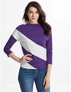 hesapli Moda Çizgili Üstler-Kadın's Modern Stil, Çizgili Tişört