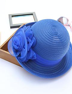 Da donna Primavera/Autunno Estate Paglia Cappelli Fiore Alla pescatora Cappello da sole,Solidi Righe