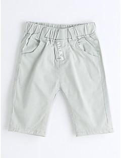 Para Meninos Shorts Cor Única Verão Algodão