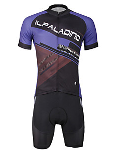 ILPALADINO Camisa com Shorts para Ciclismo Homens Masculino Manga Curta Moto Conjuntos de Roupas Ciclismo Secagem Rápida Resistente Raios