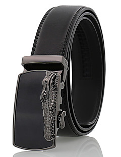 cheap -Men's Party Work Leather Alloy Waist Belt - Solid Colored Pure Color