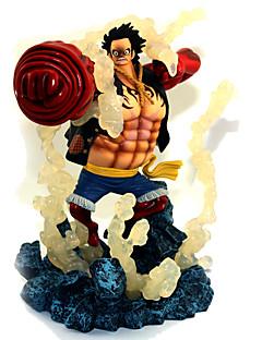 billige Anime cosplay-Anime Action Figurer Inspirert av One Piece Monkey D. Luffy PVC 19 cm CM Modell Leker Dukke