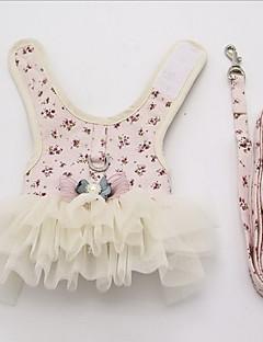 billiga Hundkläder-Hund Klänningar Hundkläder Brittisk Gul Blå Rosa Cotton Kostym För husdjur Dam Ledigt/vardag