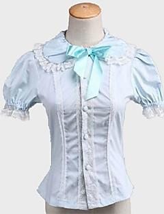 billiga Lolitamode-Klassisk/Traditionell Lolita Prinsessa Dam Tonåring Flickor Blus/Skjorta Cosplay Kortärmad