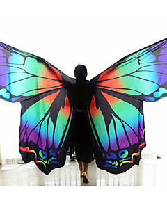 Belly Dance Isis Wings Women's Performance Nylon Butterfly Design Pattern/Print 3 Pieces Dancewear Stage Props Polyester Cape Cloak