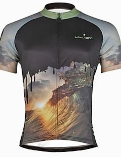billige Sykkelklær-ILPALADINO Herre Kortermet Sykkeljersey Hodeskaller Sykkel Jersey, Fort Tørring, Ultraviolet Motstandsdyktig, Svettereduserende