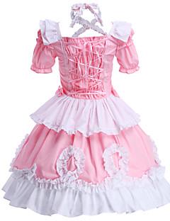 billiga Lolitamode-Prinsessa Söt Lolita Dam Outfits Cosplay Rosa Kortärmad Telång Kostymer