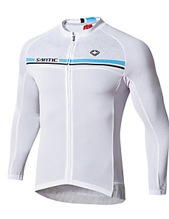 cheap -SANTIC Cycling Jersey Men's Long Sleeves Bike Jersey Top 100% Polyester Fashion Spring Summer Leisure Sports Cycling/Bike Backcountry
