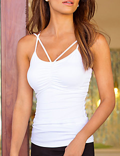 cheap Women's Tops-Women's Beach Polyester Tank Top - Solid, Backless Ruched Strap