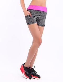 billiga Träning-, jogging- och yogakläder-Dam Joggingshorts - Gul, Fuchsia, Röd sporter Mode Shorts / Leggings Yoga, Fitness, Gym Sportkläder Elastisk