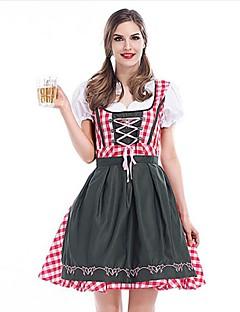 Oktoberfest Servitør/servitrise Cosplay Kostumer karriere Kostymer Dame Halloween Karneval Nytt År Oktoberfest Festival/høytid