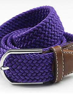 billige Trendy belter-Unisex Dress Belt Dekorativ Bredt belte Ensfarget Legering
