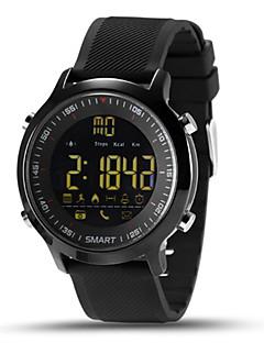 billige Armbåndsure-Herre Digital Smartur Kinesisk Kalender Kronograf Pulsmåler Vandafvisende Fjernbetjening Skridttællere tachymeter Stopur Træningsmålere