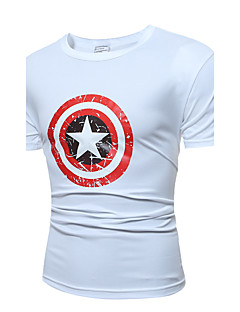 Men 's Fashion Casual Five-Pointed Star Printing Large - Size Short - Sleeved T - Shirt